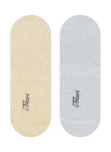 Mavi 2Li Babet Çorabı Seti Altın
